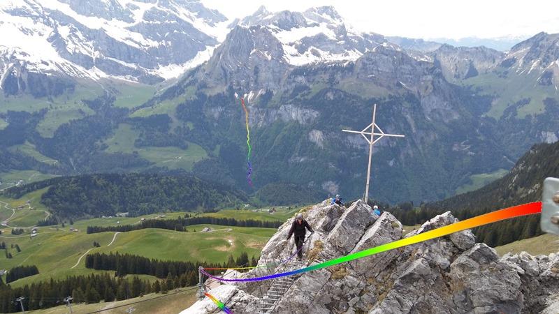 QueerClimb im Klettersteig